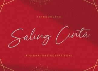 Saling Cinta Handwritten Font