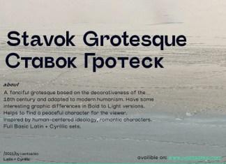Stavok Grotesque Sans Serif Font