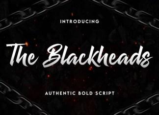 The Blackheads Brush Font