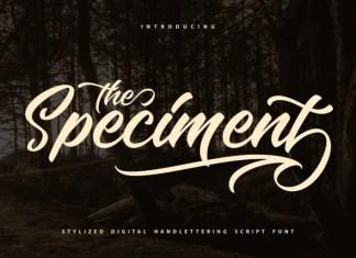 The Speciment Script Font