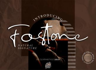 Fostone Natural Signature Script Font
