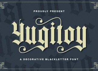 Yugitoy Blackletter Font