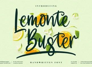 Lemonte Buster Script Font