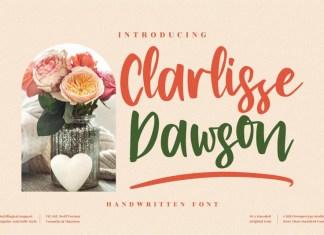 Clarlissa Dawson Script Font