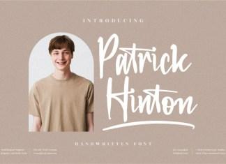 Patrick Hinton Script Font