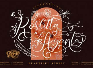 Roslitta Aganta Calligraphy Font