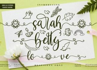 Sarah Betty Calligraphy Font