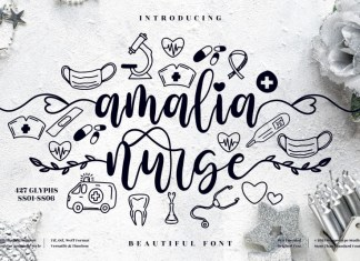 Amalia Nurse Calligraphy Font