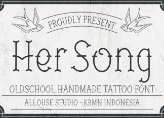 Her Song Display Font
