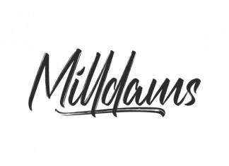 Milldams Brush Font