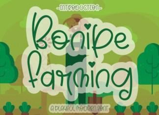 Bonipe Farming Display Font