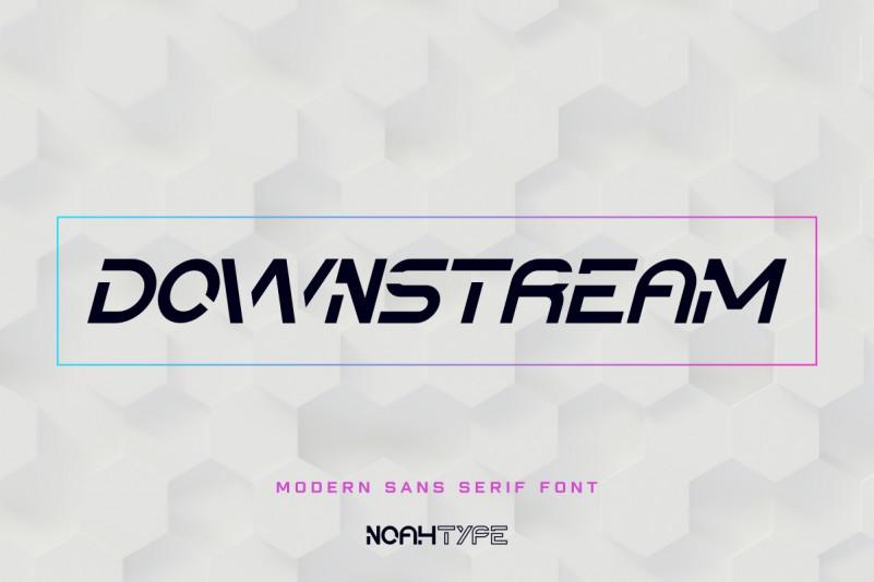 Downstream Display Font