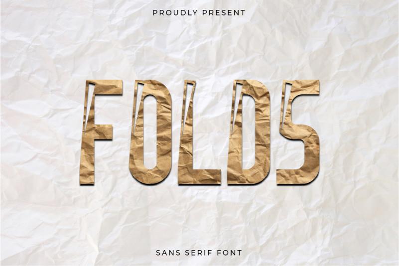 Folds Display Font