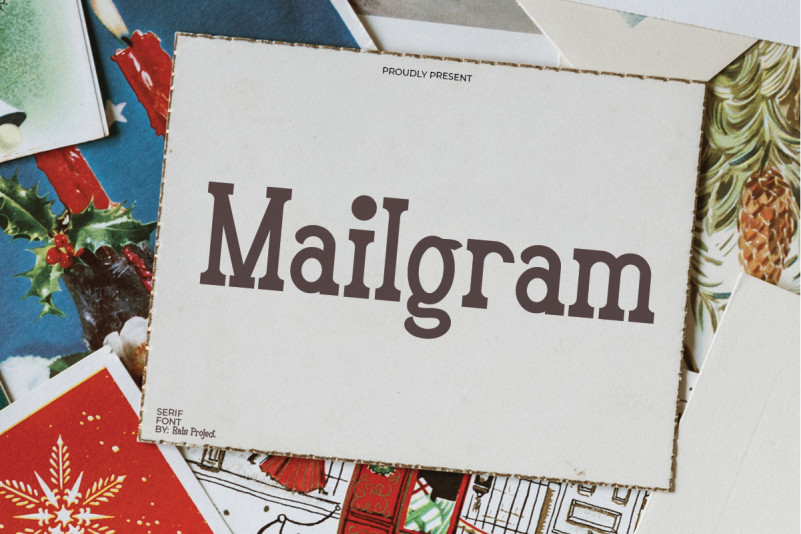 Mailgram Slab Serif Font