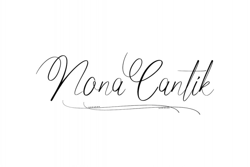 Nona Cantik Script Font