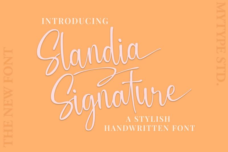 Slandia Signature Script Font