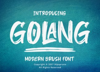 Golang Brush Font