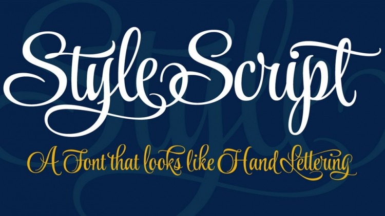 Style Script Font