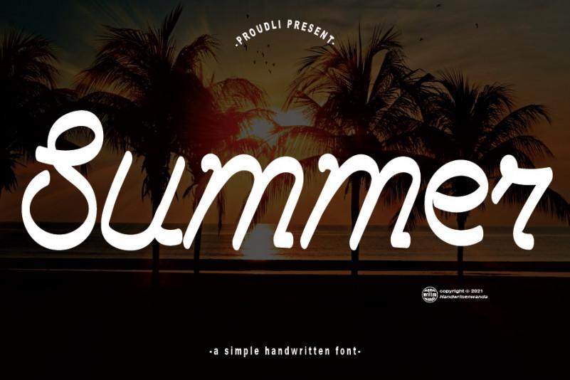 Summer Script Font