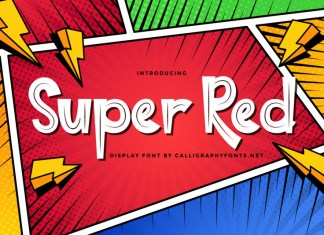 Super Red Display Font
