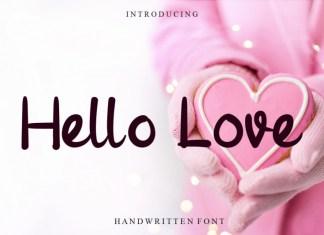 Hello Love Script Font