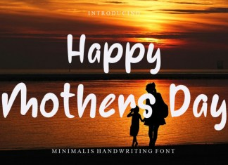 Happy Mothers Day Display Font