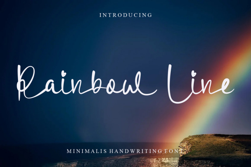 Rainbow Line Script Font