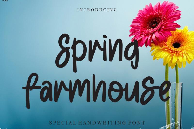 Spring Farmhouse Script Font