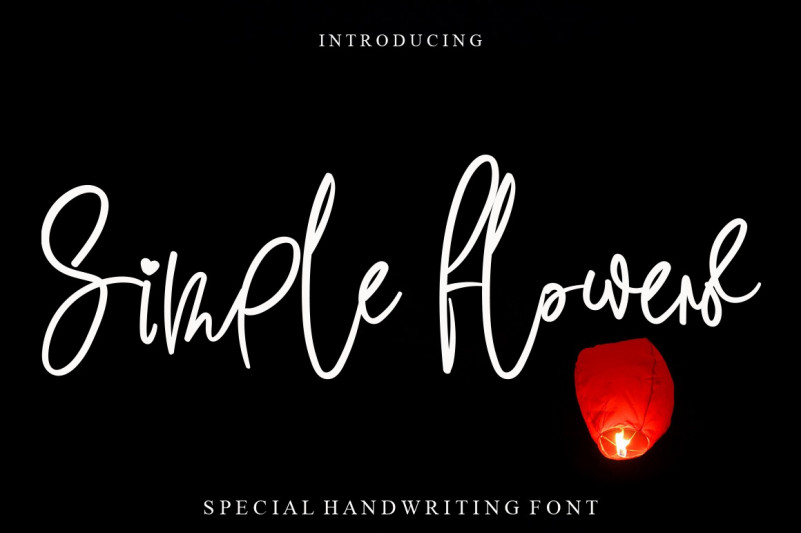 Simple Flowers Handwritten Font