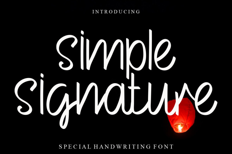 Simple Signature Script Font