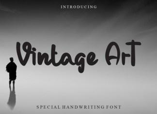 Vintage Art Script Font