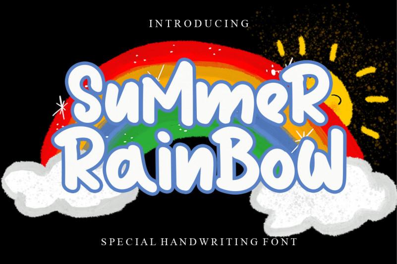 Summer Rainbow Display Font