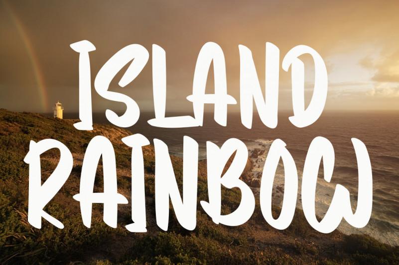 Island Rainbow Script Font