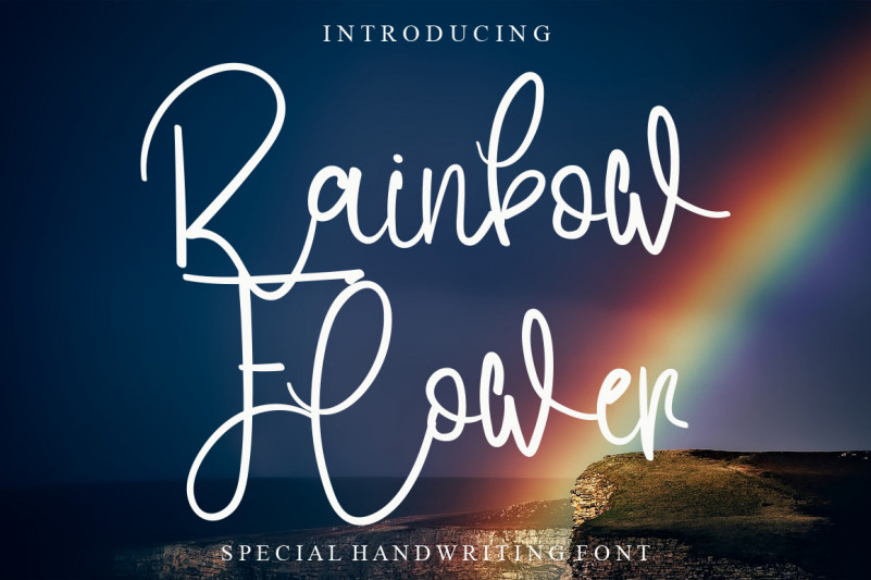 Rainbow Flower Font