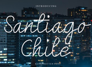 Santiago Chile Handwritten Font