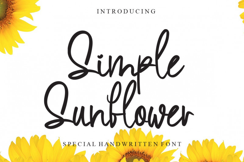 Simple Sunflower Font