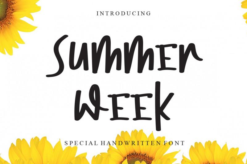 Summer Week Font