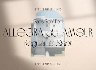 Allegra De Amour Sans Serif Font