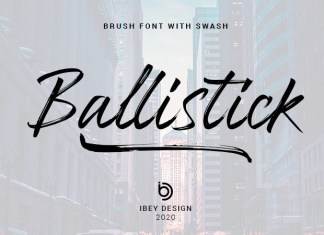 Ballistick Brush Font