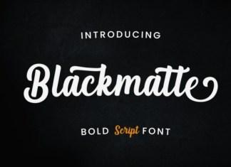 Blackmatte Bold Script Font