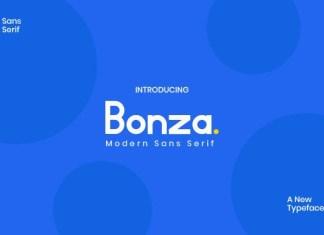 Bonza Sans Serif Font