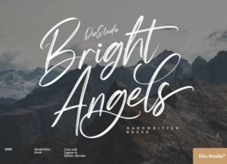 Bright Angels Brush Font