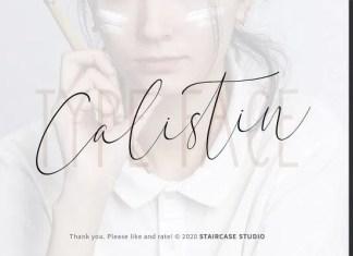 Calistin Script Font