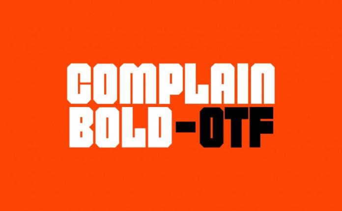 Complain Font