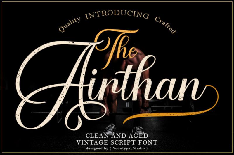 Airthan Script Font