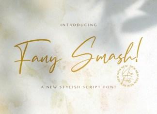 Fany Smash Handwritten Font