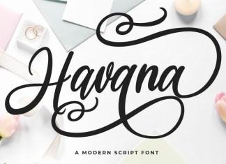 Havana Calligraphy Font