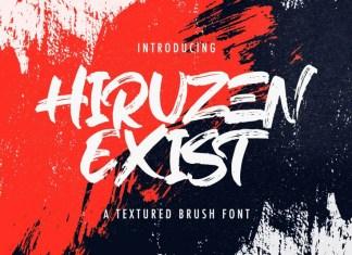 Hiruzen Exists Brush Font