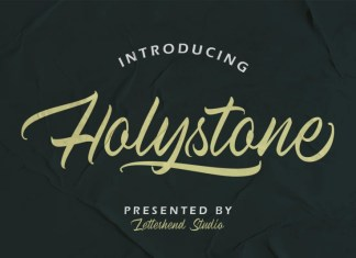 Holystone Script Font