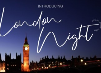 London Night Script Font